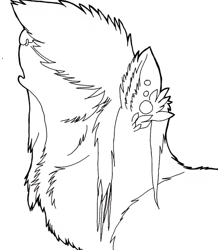 Lineart Wolf : Evil wolf lineart