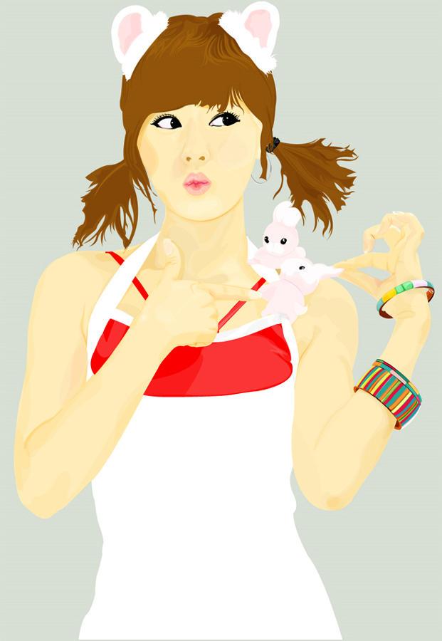 Hwang Mi Hee Vector