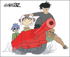 Gorillaz Army Colored by mojaam