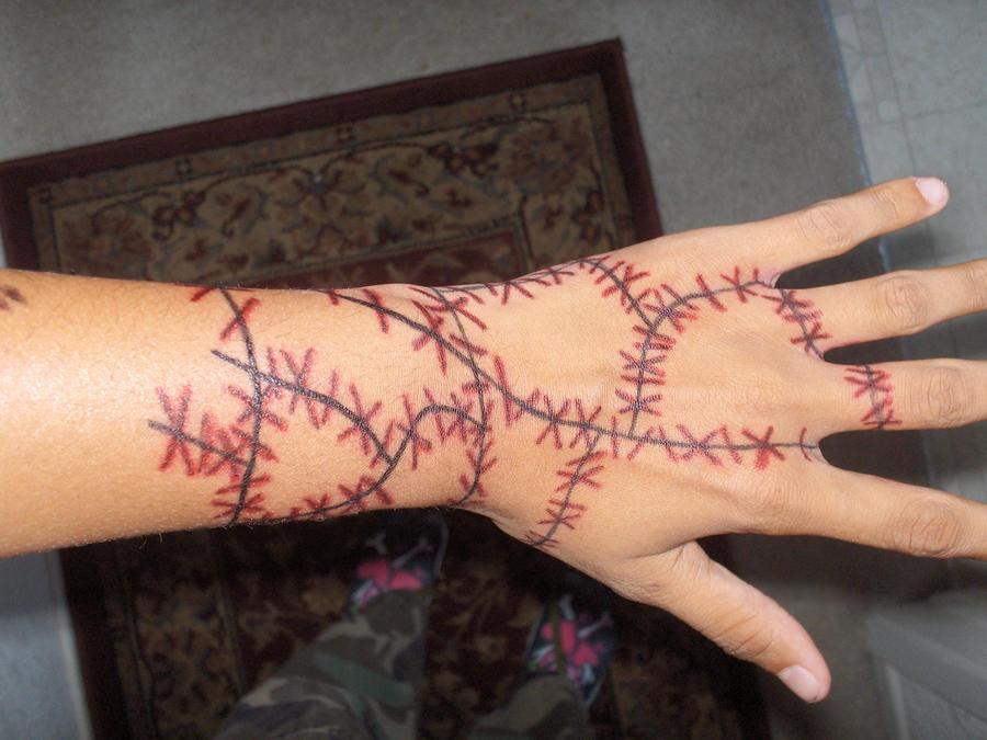 stitches tattoo design by jacks sis13 on deviantart. Black Bedroom Furniture Sets. Home Design Ideas