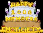 1,000 Members cake: static