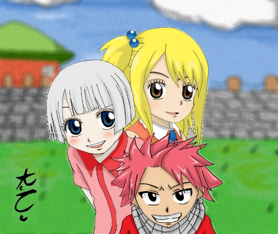 Natsu and lucy kids natsu x lucy hot mess by