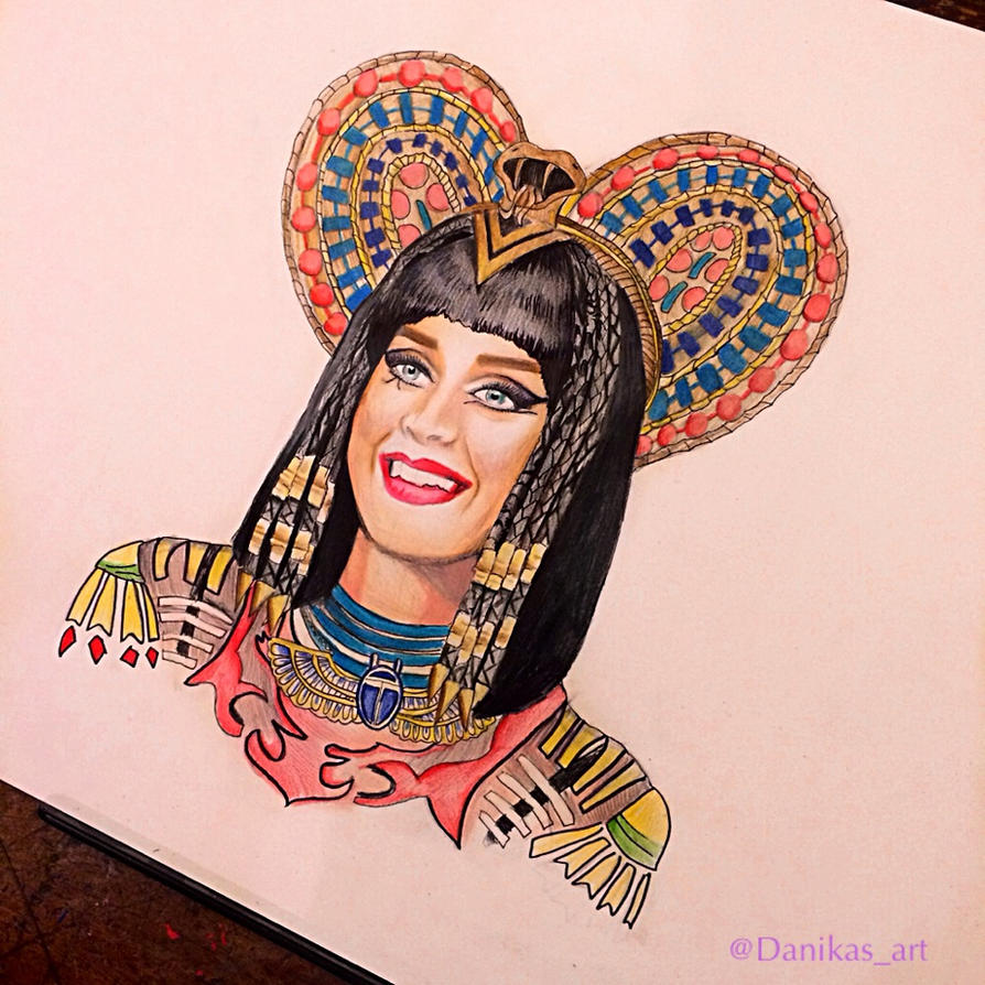 Katy Perry Dark Horse Drawing by Danikas-Art26 on DeviantArt