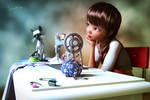 Seamstress or ... Dream @ Work by Mysticartdesign