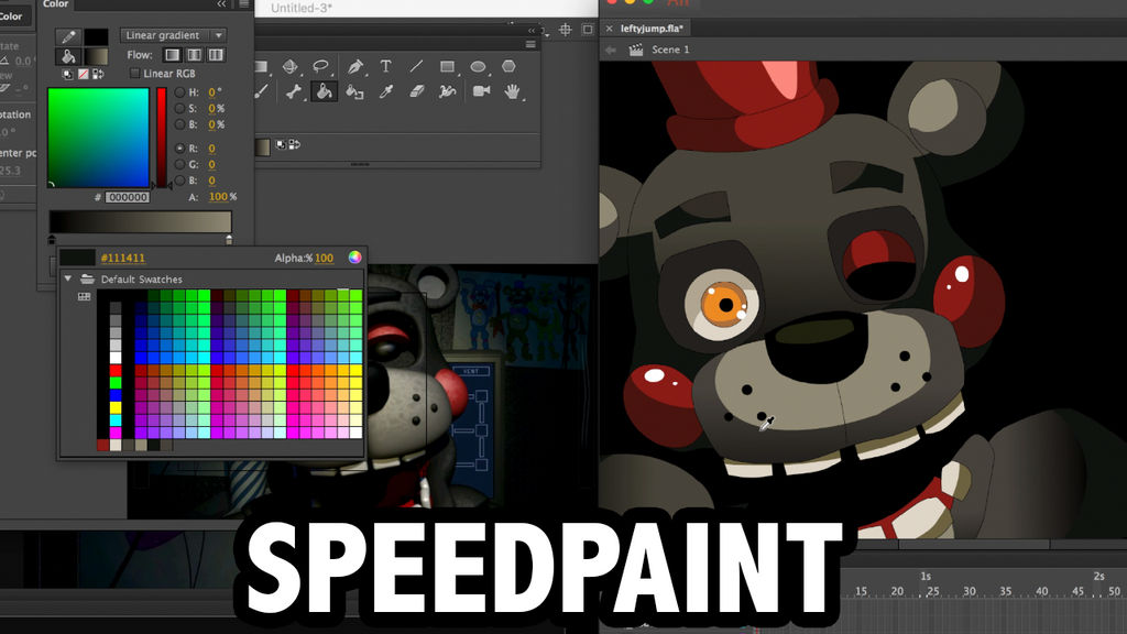 Lefty: Freddy Fazbears Pizza Simulator SPEEDPAINT by Chibixi on