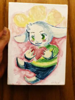 Asriel's Heart - Undertale Watercolor