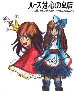 Ruth vs  Queen of Hearts-Art trade with XxmimixX2