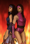 Recreating Kitana and Mileena Comic Cover