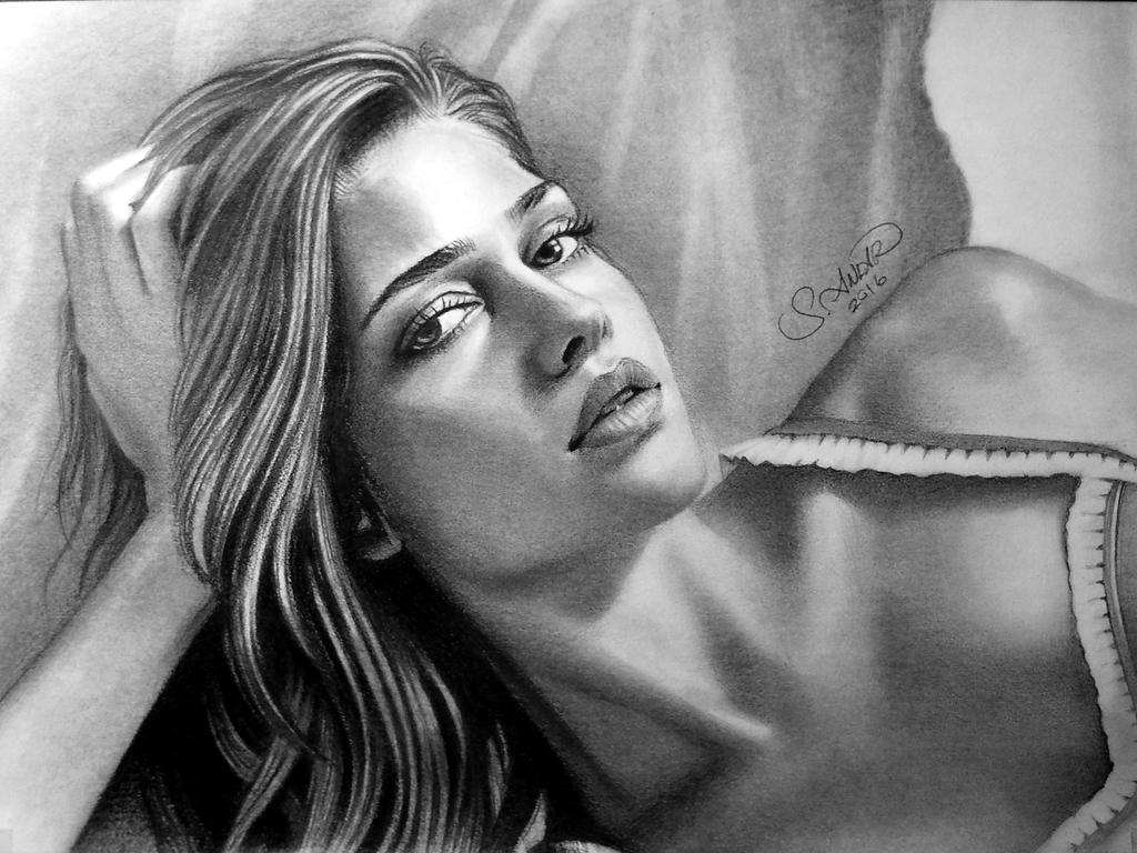 Drawing Ana Beatriz Borros by serkanpainter