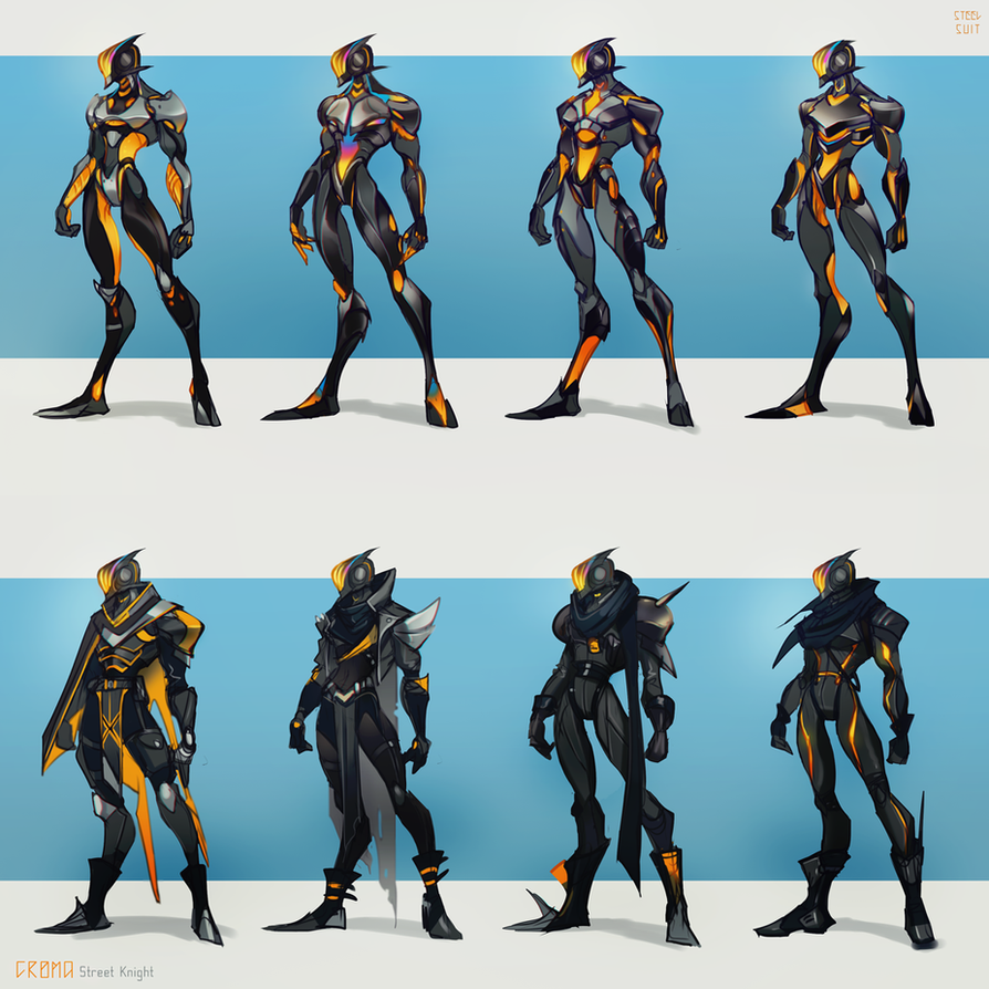 Street Knight variants by steelsuit