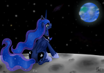Luna cries on the moon