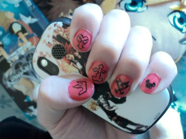 Kingdom Hearts Nail Art by PrettyAndPolished on DeviantArt