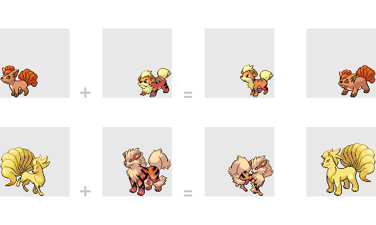Vulpix And Growlithe Fusion By Mondecolore