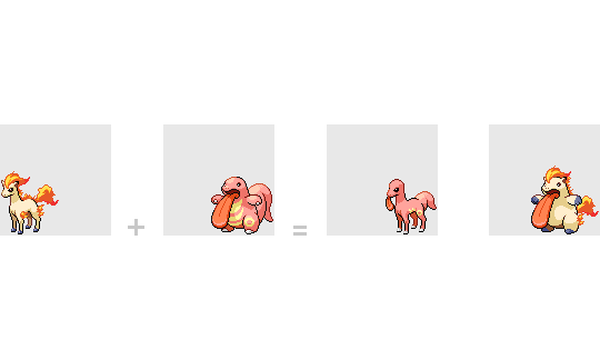 077 Ponyta + 108 Lickitung by mondecolore