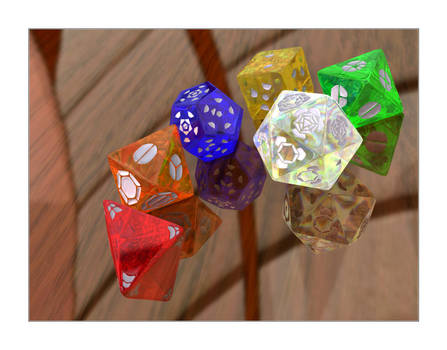 Luminous Dice by Lokai2000