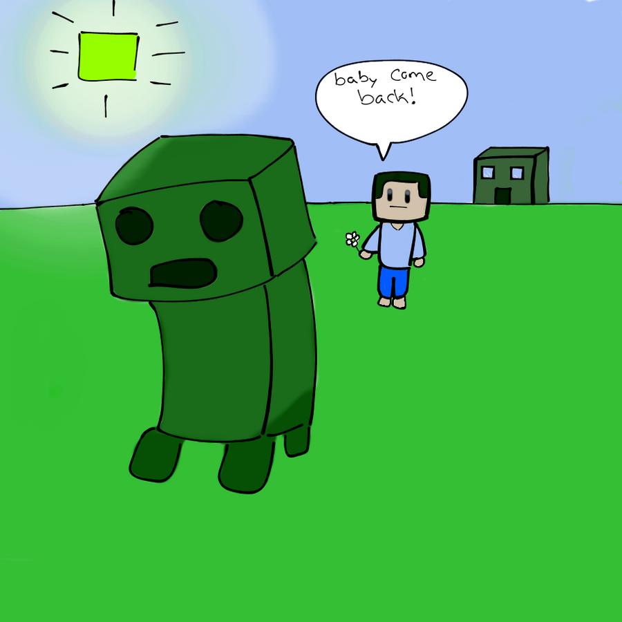 Creeper and steve by senshivoid on deviantart - Minecraft creeper and steve ...