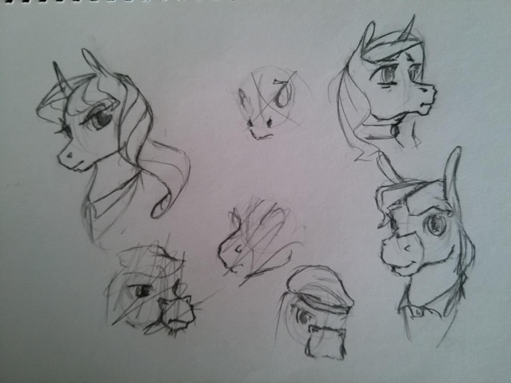 OC Sketch Dump by archonix
