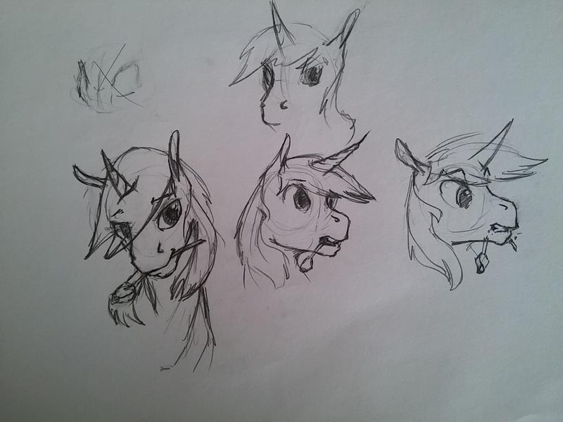 Glint Garnet (OC) Sketch by archonix