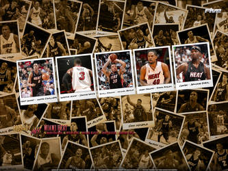 Miami Heat Polaroid by D-Ejkiewicz