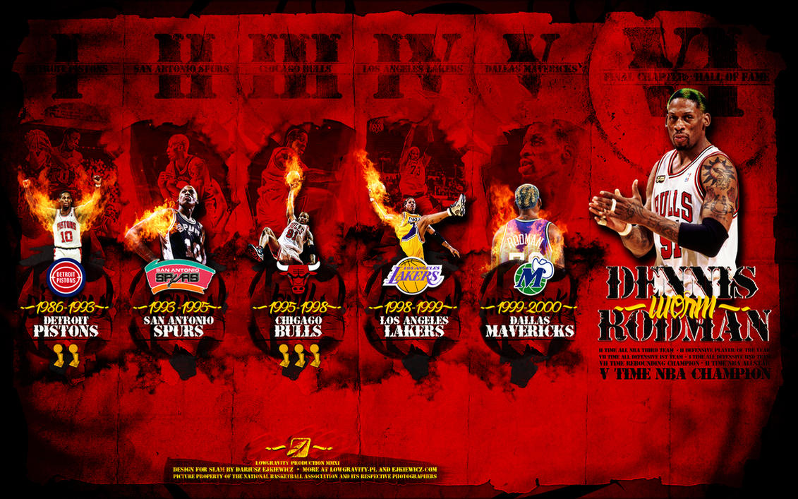 Hall Of Fame Wallpaper: Dennis Rodman Hall Of Fame By D-Ejkiewicz On DeviantArt
