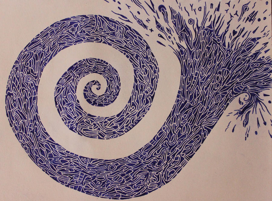 Blue Spiral by Kick-Artist