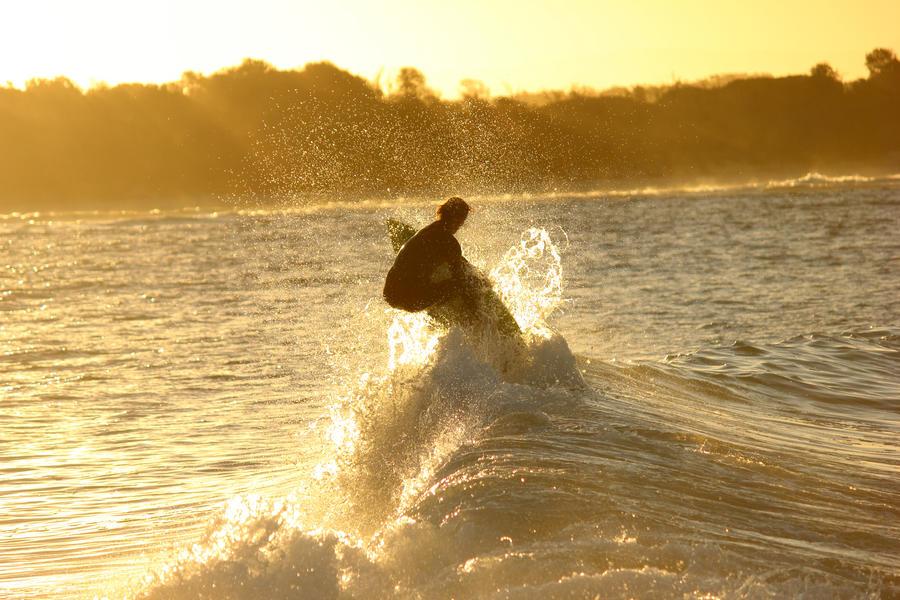 Sunset Surfer.. by Kick-Artist