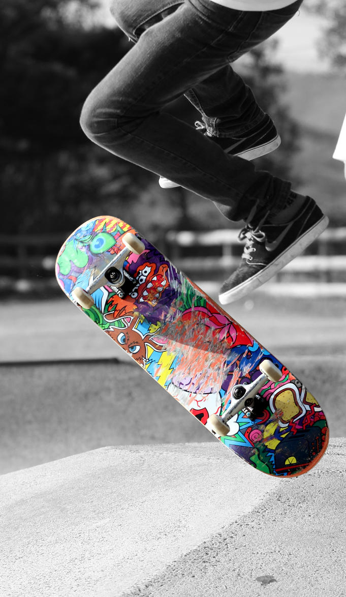 Coloursplashed Board... by Kick-Artist