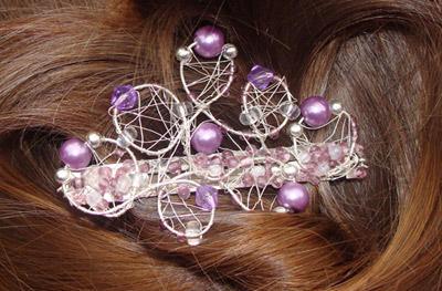 purple hairpin
