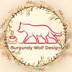 burgundy wolf Designs logo