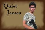 Quiet James Button by furiousj