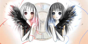 Twinie Angels coloured sketch
