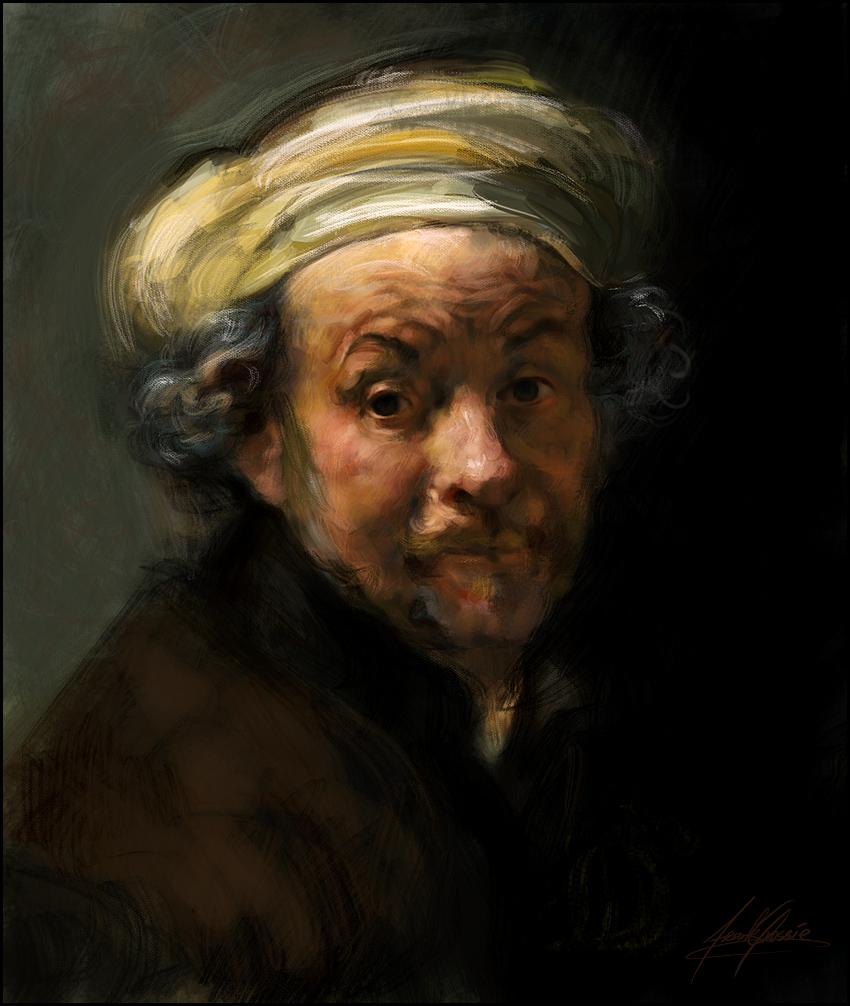 rembrandt study by gressief