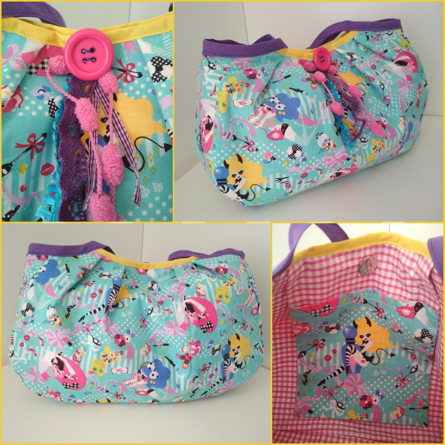 Cute and kawaii colorful fabric bag by Zengia