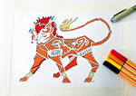 Colored Tribal Red XIII by LuminaFreyki