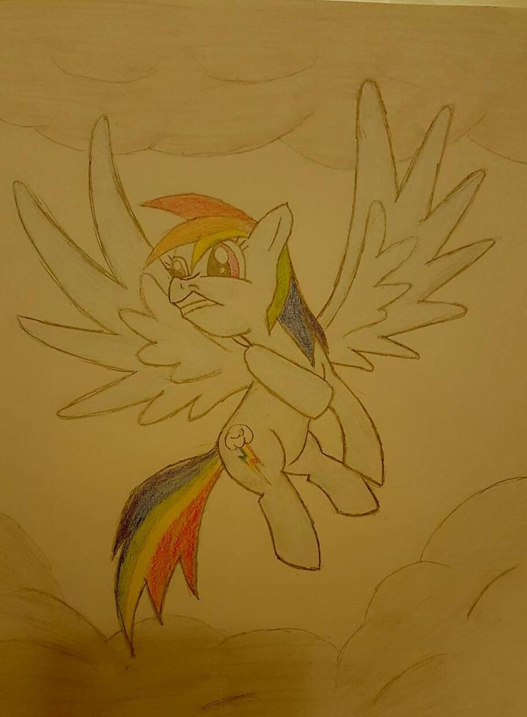 rainbow dash is shook by jonalishus