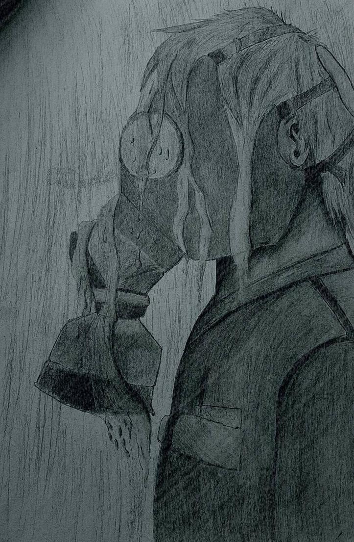 Gas Mask In The Rain by jonalishus