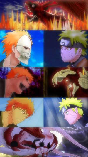 Ichigo and Naruto - colored