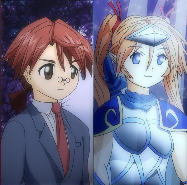 Negi and Asuna by arbaros