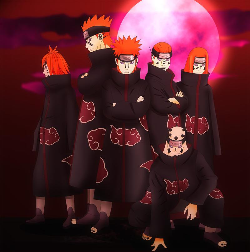 Pain Naruto Wallpaper: Deva Pain's Victims