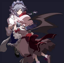 Remilia and Sakuya by arbaros