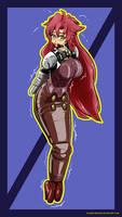 Teacher Yoko's modified bondage outfit by Plasma-dragon