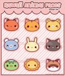 Kawaii Animal Face Stickers