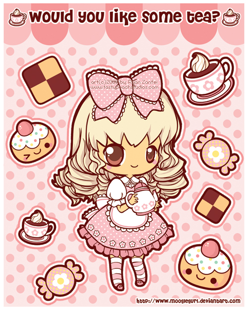 Stickers: Tea Time by MoogleGurl