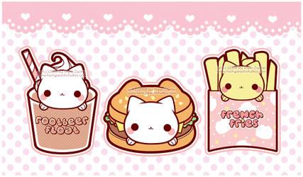 Nyanko Burger and Friends by MoogleGurl