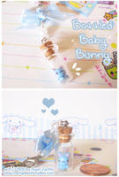 Bottled Baby Bunny Charm by MoogleGurl