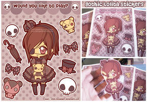 Gothic Lolita Sticker Set by MoogleGurl