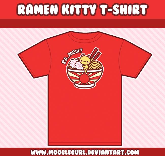 Ramen Kitty T-Shirt by MoogleGurl