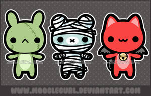 Halloween Cuties by MoogleGurl