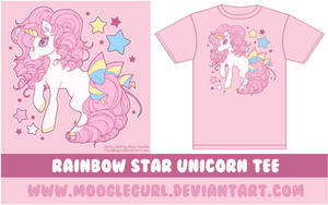 Rainbow Star Unicorn Tee by MoogleGurl
