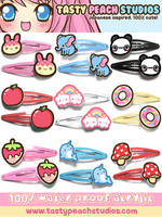 2011 Acrylic Hair Clips 1 by MoogleGurl